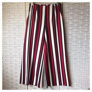 Splash Striped Wide Leg High Waist Pants